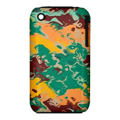 Texture In Retro Colors			apple Iphone 3g/3gs Hardshell Case (pc+silicone) by LalyLauraFLM