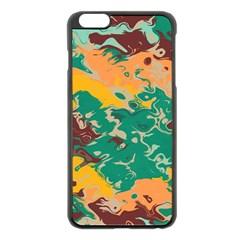 Texture In Retro Colorsapple Iphone 6 Plus/6s Plus Black Enamel Case by LalyLauraFLM