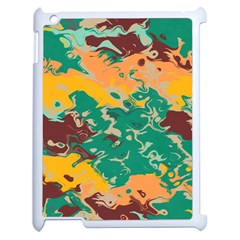 Texture In Retro Colorsapple Ipad 2 Case (white) by LalyLauraFLM