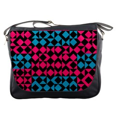 Rhombus And Triangles			messenger Bag by LalyLauraFLM