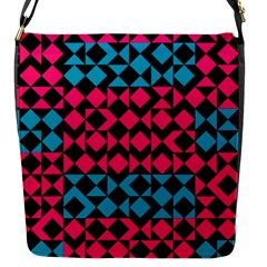 Rhombus And Trianglesflap Closure Messenger Bag (s) by LalyLauraFLM