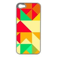 Retro Colors Shapes			apple Iphone 5 Case (silver) by LalyLauraFLM