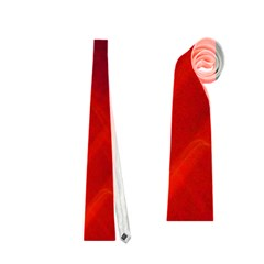Red Abstract Neckties (two Side)  by timelessartoncanvas