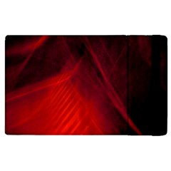 Red Abstract Apple Ipad 2 Flip Case by timelessartoncanvas