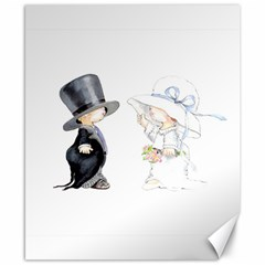 Little Bride And Groom Canvas 8  X 10  by Weddings