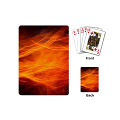 Orange Wonder Playing Cards (mini)  by timelessartoncanvas
