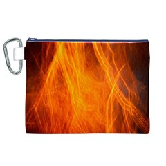 Orange Wonder 2 Canvas Cosmetic Bag (xl)  by timelessartoncanvas