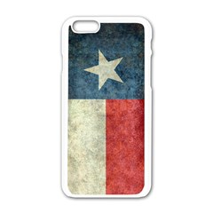 Texas Flag Vintage Retro Apple Iphone 6/6s White Enamel Case by bruzer
