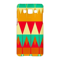 Triangles And Other Retro Colors Shapes samsung Galaxy A5 Hardshell Case by LalyLauraFLM