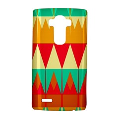 Triangles And Other Retro Colors Shapes 			lg G4 Hardshell Case by LalyLauraFLM