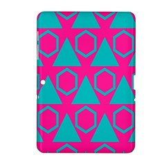 Triangles And Honeycombs Pattern 			samsung Galaxy Tab 2 (10 1 ) P5100 Hardshell Case by LalyLauraFLM