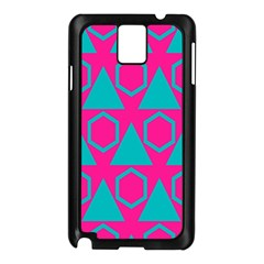 Triangles And Honeycombs Pattern 			samsung Galaxy Note 3 N9005 Case (black) by LalyLauraFLM