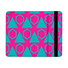 Triangles And Honeycombs Pattern 			samsung Galaxy Tab Pro 8 4  Flip Case by LalyLauraFLM