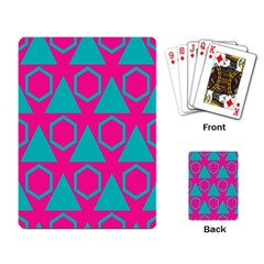 Triangles And Honeycombs Pattern playing Cards Single Design by LalyLauraFLM