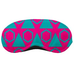Triangles And Honeycombs Pattern 			sleeping Mask by LalyLauraFLM