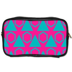 Triangles And Honeycombs Pattern toiletries Bag (one Side) by LalyLauraFLM