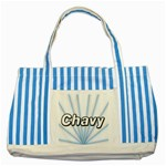 Canvas bag - Striped Blue Tote Bag