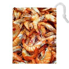 Shrimp Design Ignatius Rake Drawstring Pouches (XXL)