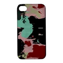 Retro colors texture Apple iPhone 4/4S Hardshell Case with Stand by LalyLauraFLM
