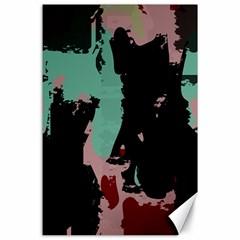 Retro Colors Texture canvas 24  X 36  by LalyLauraFLM