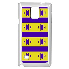 Tribal shapes and stripes Samsung Galaxy Note 4 Case (White) by LalyLauraFLM