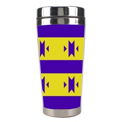 Tribal Shapes And Stripes Stainless Steel Travel Tumbler by LalyLauraFLM