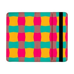 Distorted Shapes In Retro Colors Pattern samsung Galaxy Tab Pro 8 4  Flip Case by LalyLauraFLM
