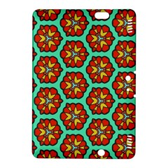 Red Flowers Pattern kindle Fire Hdx 8 9  Hardshell Case by LalyLauraFLM