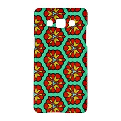 Red Flowers Pattern samsung Galaxy A5 Hardshell Case by LalyLauraFLM