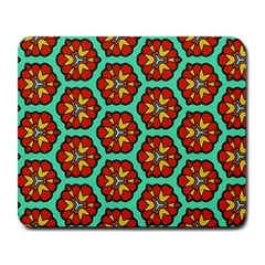Red Flowers Pattern large Mousepad by LalyLauraFLM