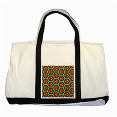 Red Flowers Pattern two Tone Tote Bag by LalyLauraFLM
