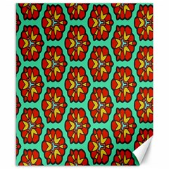 Red Flowers Pattern 			canvas 8  X 10  by LalyLauraFLM