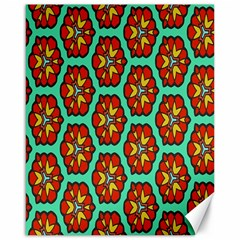Red Flowers Pattern canvas 16  X 20  by LalyLauraFLM
