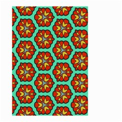 Red Flowers Pattern Small Garden Flag by LalyLauraFLM