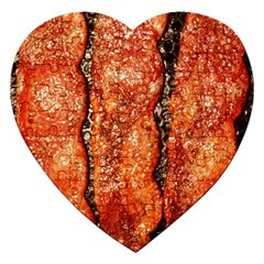 Bacon Cooking By Sandi Jigsaw Puzzle (Heart) by RakeClag