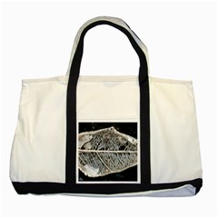 Modern Leaf Two Tone Tote Bag  by timelessartoncanvas