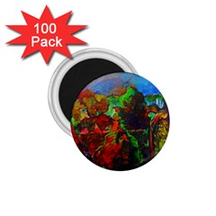 Chicago Park Painting 1 75  Magnets (100 Pack)  by bloomingvinedesign