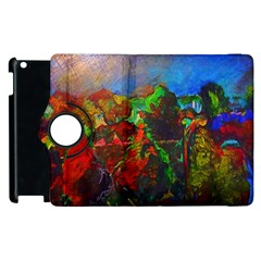 Chicago Park Painting Apple Ipad 2 Flip 360 Case by bloomingvinedesign