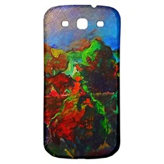 Chicago Park Painting Samsung Galaxy S3 S Iii Classic Hardshell Back Case by bloomingvinedesign