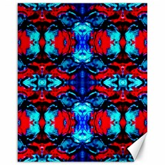 Red Black Blue Art Pattern Abstract Canvas 16  X 20   by Costasonlineshop