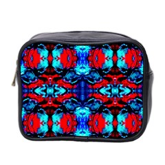 Red Black Blue Art Pattern Abstract Mini Toiletries Bag 2 Side by Costasonlineshop
