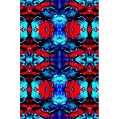 Red Black Blue Art Pattern Abstract 5.5  x 8.5  Notebooks by Costasonlineshop