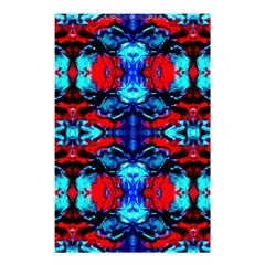 Red Black Blue Art Pattern Abstract Shower Curtain 48  X 72  (small)  by Costasonlineshop
