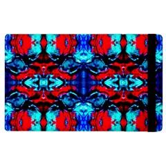 Red Black Blue Art Pattern Abstract Apple Ipad 3/4 Flip Case by Costasonlineshop