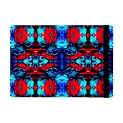 Red Black Blue Art Pattern Abstract Apple Ipad Mini Flip Case by Costasonlineshop