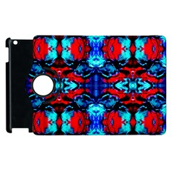 Red Black Blue Art Pattern Abstract Apple Ipad 3/4 Flip 360 Case by Costasonlineshop