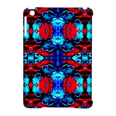 Red Black Blue Art Pattern Abstract Apple Ipad Mini Hardshell Case (compatible With Smart Cover) by Costasonlineshop