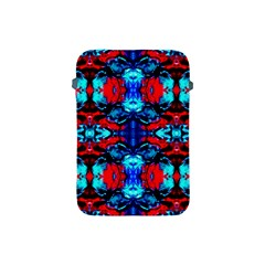 Red Black Blue Art Pattern Abstract Apple Ipad Mini Protective Soft Cases by Costasonlineshop