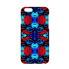 Red Black Blue Art Pattern Abstract Apple Iphone 6/6s Hardshell Case by Costasonlineshop