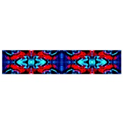 Red Black Blue Art Pattern Abstract Flano Scarf (small) by Costasonlineshop